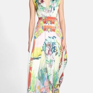 "Alice + Olivia painter ""Triss"" silk maxi dress"